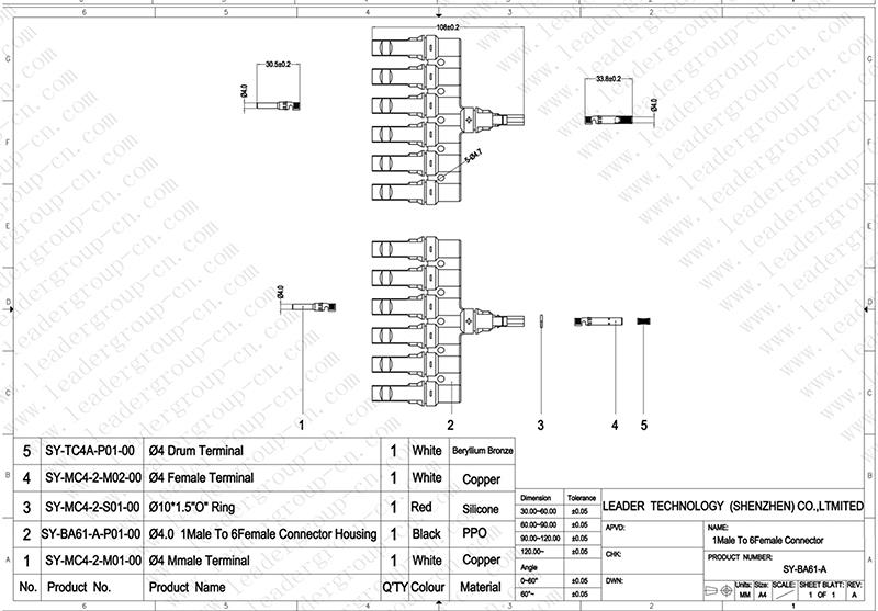 MC4 parallel connector